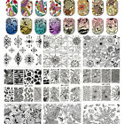 60Patterns Manicure Nail Stamping Plates Stainless Steel Nail Art Stamp Template