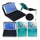 "2017 Blue Ocean Leather Micro USB Keyboard Case Cover For 7"" 8"" 10"" 10.1"" Tablet"