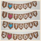1 TODAY Bunting 1st 2nd First Birthday Party Girl boy Baby Shower Banner UK one