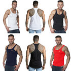 RKB Mens Gym Vest Racerback Bodybuilding Muscle Stringer Plain Tank Top Fitness