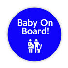 BABY ON BOARD BLUE BADGE TRAIN SEAT Pin Back Button Badges 38, 45 & 58mm lapel