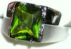 Men's Heavy 925 Sterling Silver Peridot Ring    R5  August Birthstone