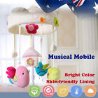 Baby Cot Crib Bed Musical Mobile Nursery Play Bird Elephant Penguin Cotton Pink