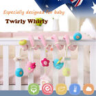 Baby Kid Cot Crib Bed Twirly Whirly Pram Toy Bird Elephant Penguin Cotton Pink