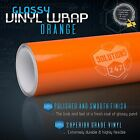 Premium Gloss Orange Glossy Vinyl Wrap Sticker Decal Bubble Free Air Release $13.48 USD