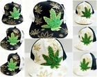 Marijuana Hat Snapback Weed Leaf Baseball Cap Cannabis 420 Headwear Adjustable