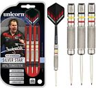 Kim Huybrechts Silver Star 80% Tungsten Steel Tip Darts by Unicorn - Full Set