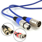 New Audio Microphone Lead Mic Cable XLR Patch Lead Balanced Male to Female Plugs