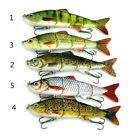 Alive Multi Jointed Fishing Fish Lures Bait Swimbait Life Like Pike Minnow Hook