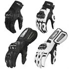 ILM Air Flow Leather Motorcycle Gloves For Men and Women Black White
