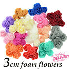 50 X Foam Mini Small Flowers Head Roses Wedding Home Party Decor Decoration