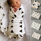 100% Cotton Baby Swaddling Blanket Soft Muslin Newborn Infant Swaddle Towel Gift