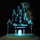 Personalized Wedding Cake Topper Fairytale Castle Cake Topper Opt LED Light Base