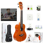 Aklot Solid Mahogany Electric Tenor Ukulele Soprano Concert Uke Hawaii Guitar