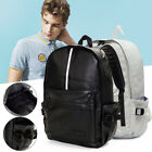 Men Leather Travel Rucksack Camping Satchel Ostracize Backpack School Laptop Bag