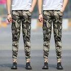 skinny combat trousers - Men Casual Military Cargo Slim Camouflage Skinny Combat Pants Army Long Trousers