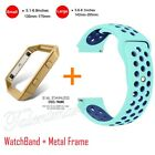 Replacement Silicone Sport Band Bracelet Strap + Frame For Fitbit Blaze Tracker