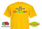 "Fruit of the Loom ""My Grandad is a Superhero"" Funny Slogan/ Kids,Boys T shirts"
