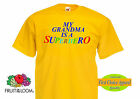 "Fruit of the Loom ""My Grandma is a Superhero"" Funny Slogan/ Kids,Boys T shirts"