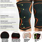 Knee Compression Sleeve Support Brace Running Injury Recovery Single S-L Orange