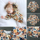 Newborn Baby Girl Kid Long Sleeve Floral Romper Jumpsuit Toddler Clothes Outfits