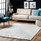 nuLOOM Accessible Made Contemporary Zebra Print Wool Blend Area Rug in Grey and Ivory