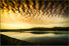 Watergrove Reservoir...In Full Glow Print - Various Sizes Paper / Canvas