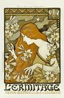 Alphonse Mucha Woman with Flowers L'ermitage Picture Poster Art Print A3 A4