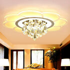 NEW Modern remote control LED crystal lamp living room restaurant ceiling light