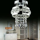 NEW Chrome Crystal LED Ceiling Lights Fitting Pendant Lamp Chandeliers 7398HC