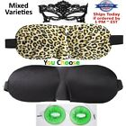 Travel 3D Eye Mask, Sleep Mask Soft Padded Shade Cover Rest Relax Aid Blindfold