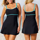 Women Plus Size Tankini Swimwear Swim Dress One Piece Bikini Bathing Swimsuit