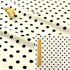 BLACK WHITE MONOCHROME Fat Quarter/Meter 100% Cotton Fabric FQ Craft 8mm Spots