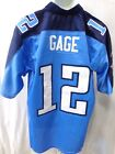 Tennessee Titans Justin Gage NFL Equipment Premier Football Jersey Light Blue 12 $19.99 USD on eBay
