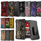 Rugged Armor Case w/Stand+Holster Clip for ZTE Grand X 4 Blade Spark ZMax One
