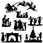 Die cut outs Silhouette Shapes Christmas, Xmas toppers set card making scrapbook
