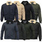 mens sherpa fleece collar flying jacket qulited padded lined coat by Brave Soul