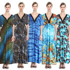 Women Long Maxi Summer Beach Boho Vacation Evening Dress Plus Size US22 26 28 32