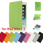 Magnetic Smart Cover Leather+ Back Case for Apple iPad Mini 1 2 Folding