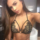 Sexy-Women Bandeau Bandage Lace Crochet Bikini Set Push Up Bra Swimwear Swimsuit