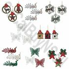 Lot of Six Christmas Tree Ornaments Sets (18 Per Lot - 3 Per Set) 8 Styles