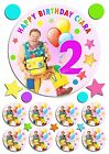 EDIBLE MR TUMBLE *PRECUT* ICING CAKE OR CUPCAKE TOPPERS BIRTHDAY PARTY PINK BLUE
