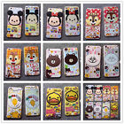 Cartoon Tempered Front Glass Film Screen Protector+Back Case For iPhone 6&7 plus