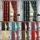 RING TOP JACQUARD CURTAIN WITH 2 TIES BAKS FULLY LINE 100% JACQUARD CURTAINS