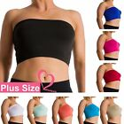 Plus Size Seamless Strapless Bandeau Bra Tube Top Sports Bra Yoga XL 1X 2X 3X 4X