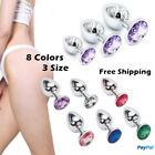 1pc Stainless Steel Butt Toy Plug Anal Insert Metal Plated Jeweled Sexy Stopper