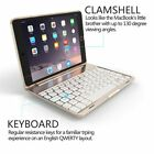 7 Colors Backlit Bluetooth Keyboard Smart Case Stand Cover For iPad mini 1 2 3 4