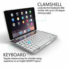 New US Backlight Bluetooth Keyboard Smart Case Stand Cover For iPad mini 1 2 3 4