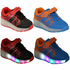 boys girls kids retractable wheel roller skate shoes led light up Sneaker new