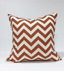 Rustic Brown, Natural Zigzag Chevron Throw Pillow Cover, Lumbar Case, Sham